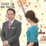 永島優美さんのエッチな胸の膨らみw横乳の丸さがいい具合なめざましテレビエロキャプ画像