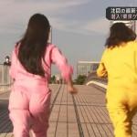 中村葵さんと川上愛さんの中々なつなぎお尻w走っていくのを追いかけたいピーチカフェキャプ画像。