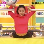 畠山愛理さんがなんかエッチw丸出しのお腹やちょっとだけ見える胸チラにドキドキな炎の体育会TVキャプ画像