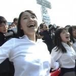 【画像・GIF】選抜高校野球・慶應の応援団にいる女子生徒がめちゃめちゃ可愛いω ω ω