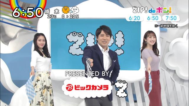 ZIP!團遥香さんのエッチなおっぱい