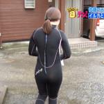 【画像】日テレ・佐藤真知子さんのウエットスーツぷりんぷりんお尻が可愛くてすこすこな所さんの目がテン!ω ω ω