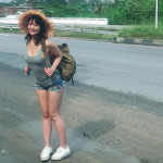 【画像】平嶋夏海さん、めっちゃエッチなショートパンツタンクトップ姿で旅に出るω ω ω