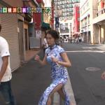 【画像】チャイナドレスで横浜をぶらぶらする福田典子さんの太ももがエッチなモヤモヤさまぁ〜ず2 ω ω ω