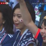 【画像】ワールドカップロシア大会・日本対コロンビアで可愛すぎる日本サポが発見されるω ω ω
