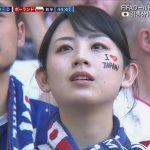 【画像】ワールドカップロシア・日本対ポーランド戦の前半44分の美人サポーター😍😍😍