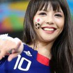 【画像】カワイイ日本代表サポーター女子が発見されいろいろと話題に😁😁😁