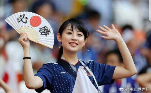 ワールドカップの美人サポーター