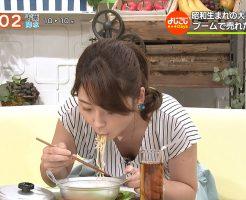 竹崎由佳さんの胸チラおっぱい1