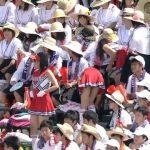 【画像・GIF】夏の甲子園、アルプススタンドのチアガール達がユサユサ揺らすおっぱいにカメラマンも釘付けに😍😍😍