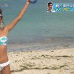 【画像】テレ東・ミギカタアガリ旅行社、バリの海で楽しそうなみちょぱさんの水着姿がエチエチ😍😍😍