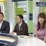 【画像】テレ東・鷲見玲奈さんの存在感満点ニットおっぱい…隠しきれいな巨乳がエッチなSPORTウォッチャー😳😳😳