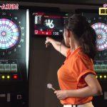 【画像・GIF有】女優・片山萌美さんの着衣おっぱいがダーツを投げるとぷるるんって揺れちゃうエッチなさまスポ😍😍😍