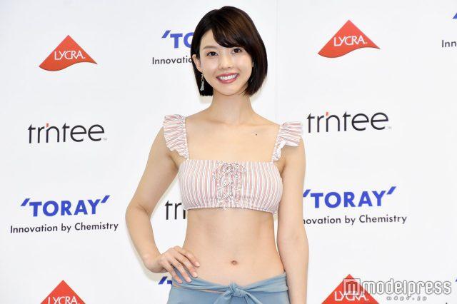 めざましテレビ・イマドキガール、松田紗和さんの水着姿の画像-056