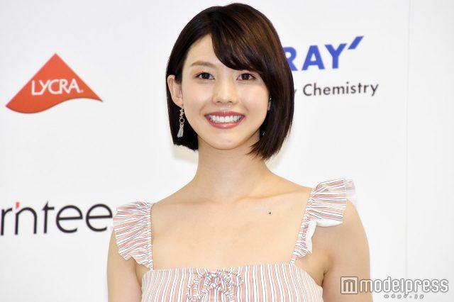 めざましテレビ・イマドキガール、松田紗和さんの水着姿の画像-079