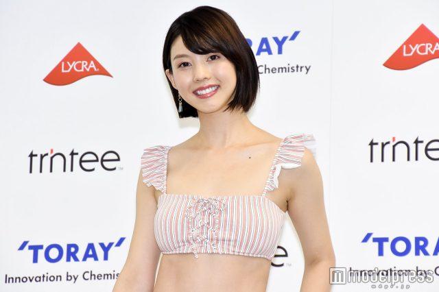 めざましテレビ・イマドキガール、松田紗和さんの水着姿の画像-077