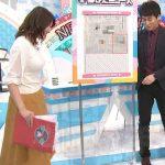 【画像】テレビ神奈川・岡村帆奈美さんの白いニットおっぱいがパンッパンでツンツンしてみたい???