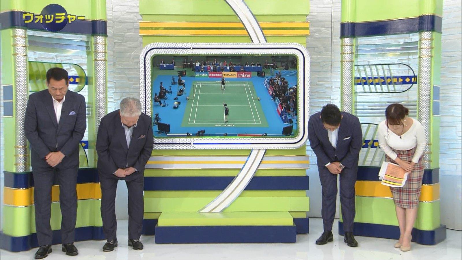 2018年12月2日テレ東「SPORTSウォッチャー」鷲見玲奈さんのテレビキャプチャー画像-006