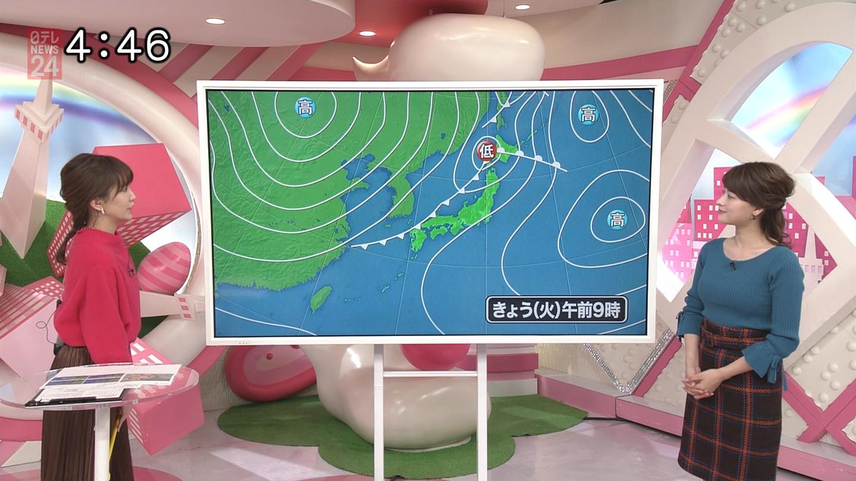 2018年12月4日日テレ「おはよん」の郡司恭子さんのテレビキャプチャー画像-023