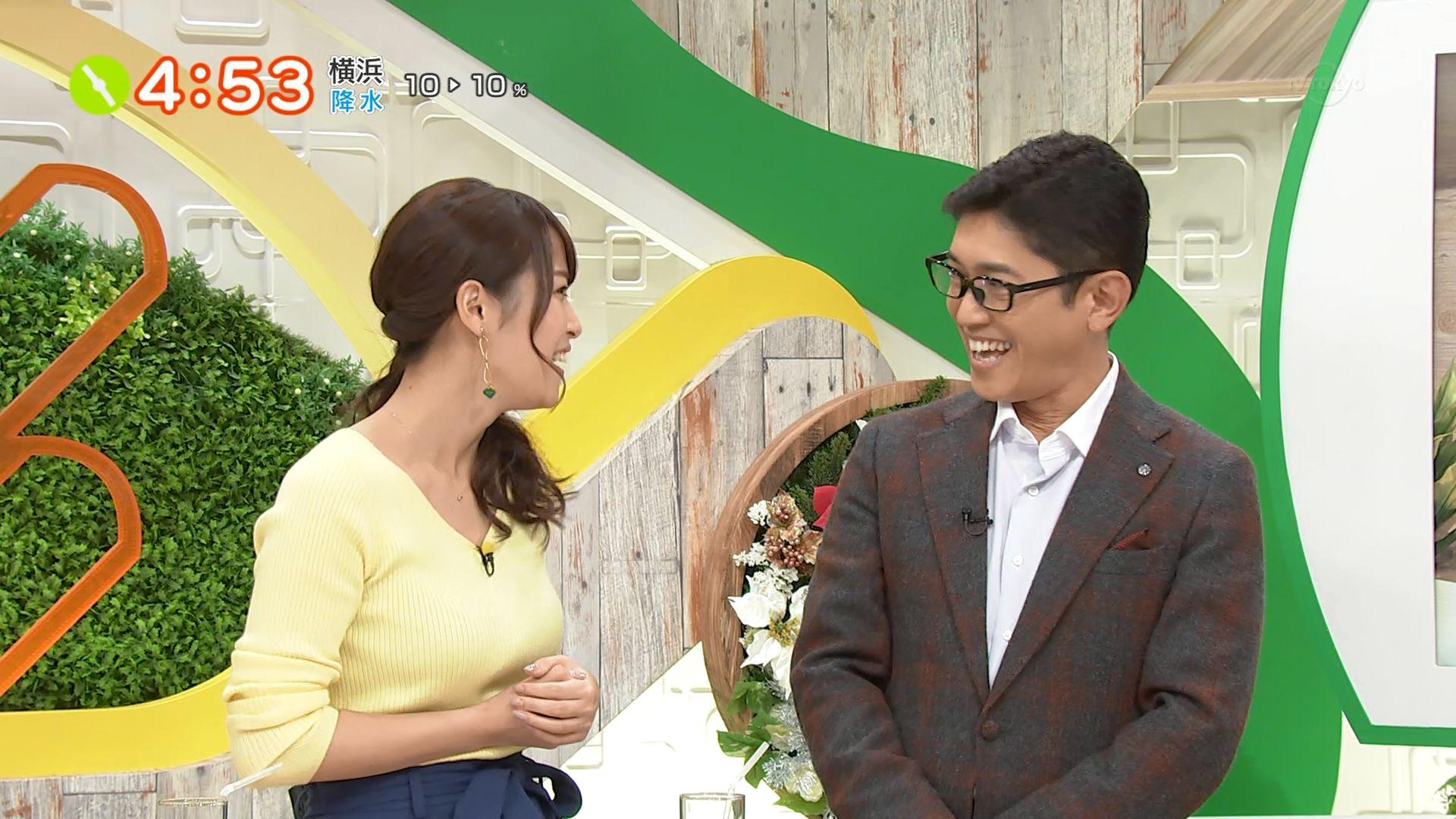 20181206テレビ東京「よじごじdays」・鷲見玲奈さんのテレビキャプチャー画像-037