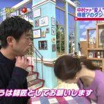 【画像】読売テレビ・中村秀香さん、モノマネ芸人さんにニットおっぱいからの胸チラで谷間サービス?