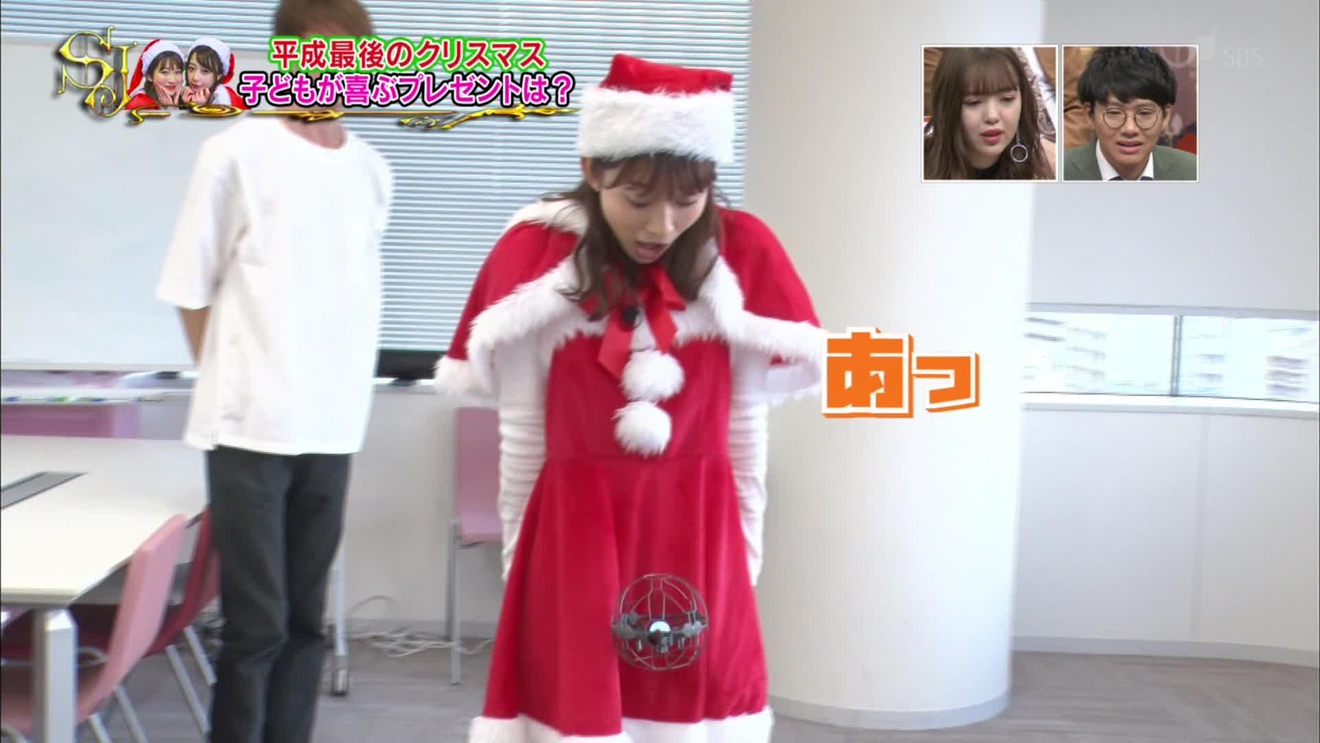 2018年12月23日TBS「サンデー・ジャポン」出演、宇垣美里さん、山本里菜さんのテレビキャプチャー画像-1097