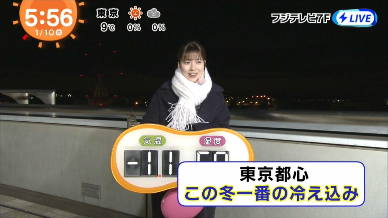 2018年1月10日フジテレビ「めざましテレビ」・阿部華也子さんのテレビキャプチャー画像-034