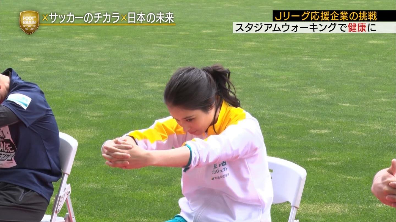 2019年1月12日テレビ東京「FOOTBRAIN」出演・鷲見玲奈さんのテレビキャプチャー画像-145