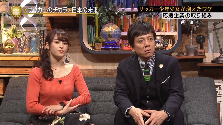 2019年1月12日テレビ東京「FOOTBRAIN」出演・鷲見玲奈さんのテレビキャプチャー画像-270