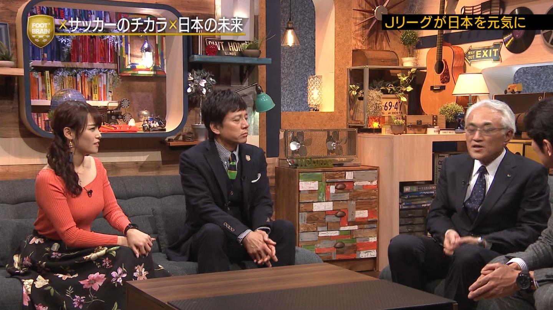 2019年1月12日テレビ東京「FOOTBRAIN」出演・鷲見玲奈さんのテレビキャプチャー画像-335