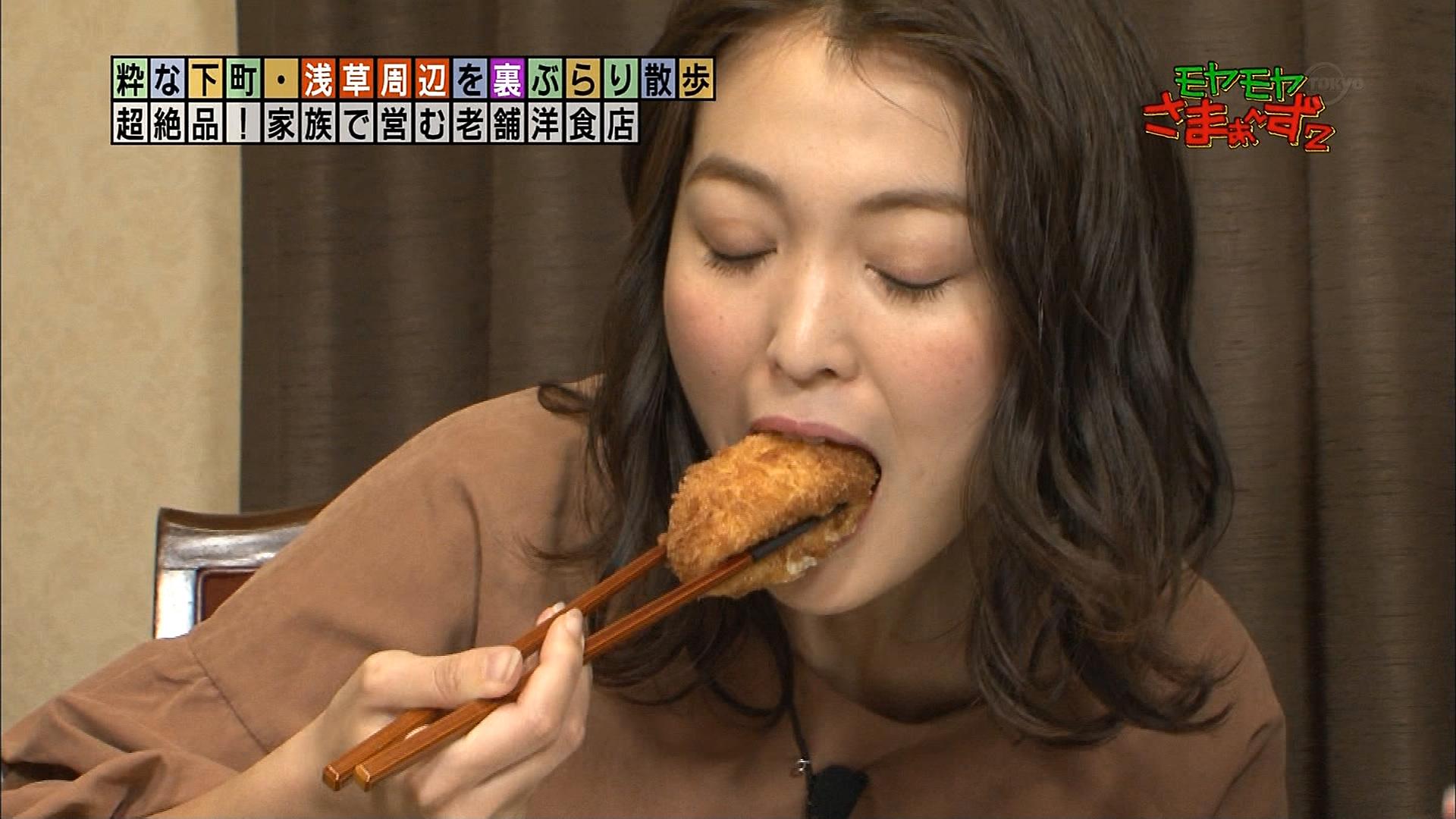 2019年1月13日テレビ東京「モヤモヤさまぁ~ず2」出演・福田典子さんのテレビキャプチャー画像-006