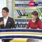 【画像】テレビ東京女子アナ・鷲見玲奈さん、SPORTS ウォッチャーでめちゃめちゃパンパンにデカいニットおっぱいを魅せつける😍