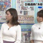 【画像】TBSはやドキ!の美人お姉さん・中西悠理さんの白いニットおっぱいがふっくらしててエチエチ😍
