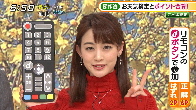 2019年2月5日テレビ朝日「グッド!モーニング」新井恵理那さんのテレビキャプチャー画像-015