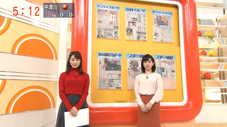 2019年2月5日テレビ朝日「グッド!モーニング」新井恵理那さんのテレビキャプチャー画像-007