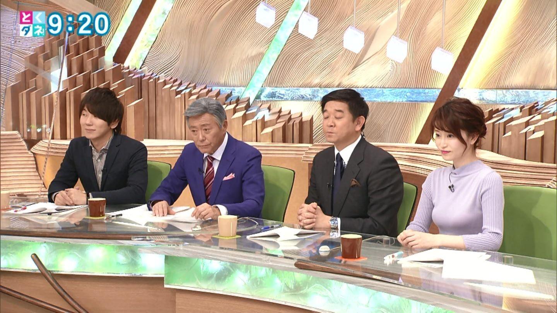 2019年2月14日フジテレビ「とくダネ!」岡部磨知さんのテレビキャプチャー画像-011