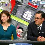 【画像】フジテレビ・小澤陽子さんの「全力!脱力タイムズ」。前へでる気持ちが強いニットおっぱいの膨らみがエチ😍