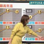 【画像】テレ朝・三谷紬さんの爆乳天気予報?おっぱいがすごすぎて肝心な情報を見過ごしそう?