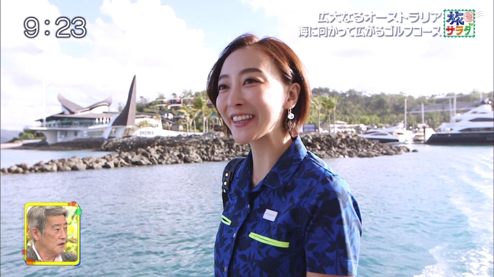 2019年2月23日テレビ朝日「旅サラダ」渡辺舞さんのテレビキャプチャー画像-076