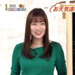 【画像】めざましテレビのお天気キャスター・阿部華也子さんのなんか優しそうなおっぱい😍