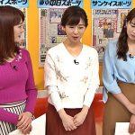 【画像】フリーアナウンサー・新井恵理那さんの反発力がバインって強そうなニットおっぱい😍