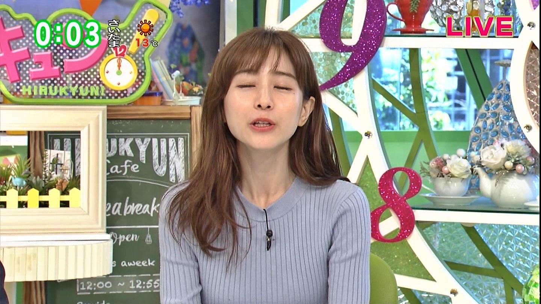 2019年3月8日TOKYO MXテレビ「ひるキュン!」田中みな実さんのテレビキャプチャー画像-008