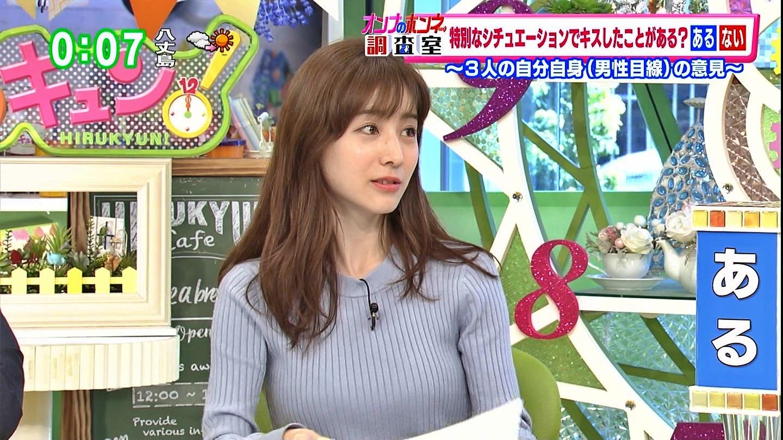 2019年3月8日TOKYO MXテレビ「ひるキュン!」田中みな実さんのテレビキャプチャー画像-014