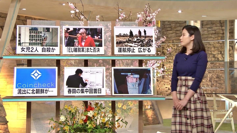 2019年3月13日「報道ステーション」森川夕貴さんのテレビキャプチャー画像-009
