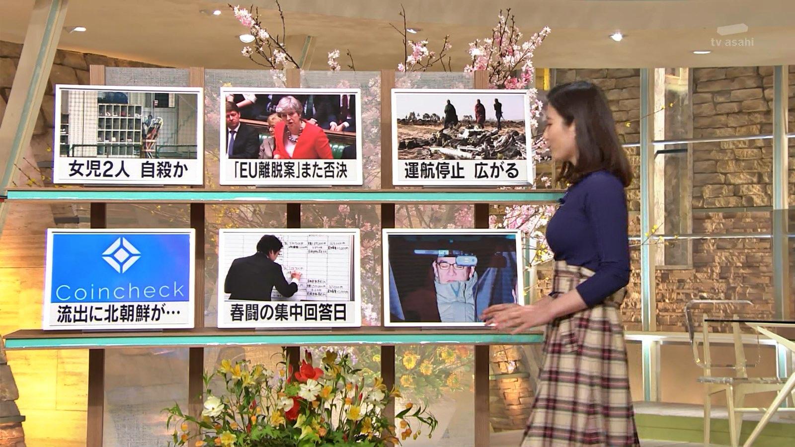 2019年3月13日「報道ステーション」森川夕貴さんのテレビキャプチャー画像-022