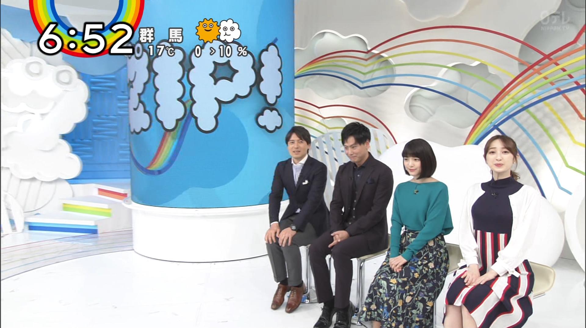2019年3月19日「ZIP!」團遥香さんのテレビキャプチャー画像-010