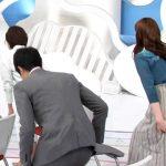 【画像・GIF】ZIP!の後呂有紗さん、座る瞬間のお尻を撫でる動作でデカめなカタチがくっきりでエチチ😍