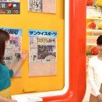 【画像】テレ朝『グッド!モーニング』新井恵理那さんのエメラルドグリーンおっぱい😍