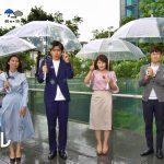 【画像】日テレ・杉野真実さん、強い雨と風の影響でスカートが下半身に張り付いてスケスケ?