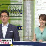 【画像】テレ東「SPORTSウォッチャー」の鷲見玲奈さん、真夏みたいな衣装でおっぱいパツる😍